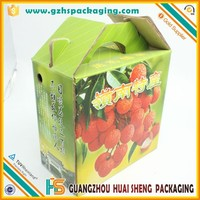5-ply strong fruit carton box for Lichi ,fruit box for shipping