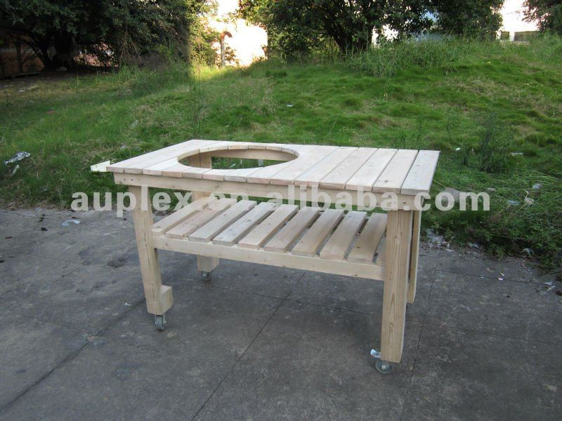 Kamado bbq grill parts Long Wooden Table