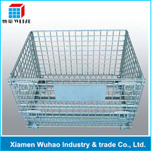 folding wire mesh storage box wire bulk crates steel mesh storage & shipping containers