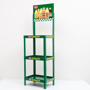 Super market 4 layers Plastic display stand and shelf for drink, plastic rack
