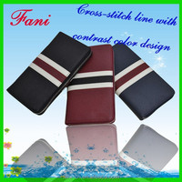 Contrast color design luxury style leather wallets and purses fo rmen personalized