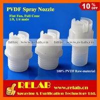 Flat Fan and Full Cone PCB Washing and Etching Water Spray PVDF Nozzle