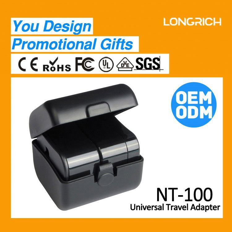 2013 Nice Promotional Gifts Giveaways Travel Universal Adaptor With High Quality NT100