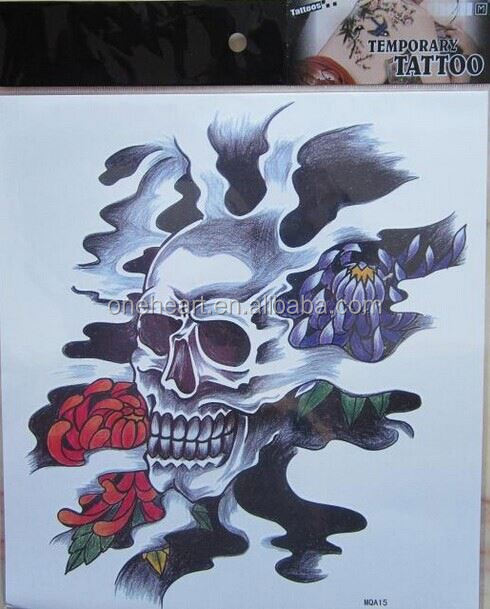 2015 Hot Sale Non-toxic Customized Water Transfer Body halloween sticker tattoo