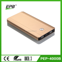 4000mAh smart mobile phone charger and super fast charging portable powerbank