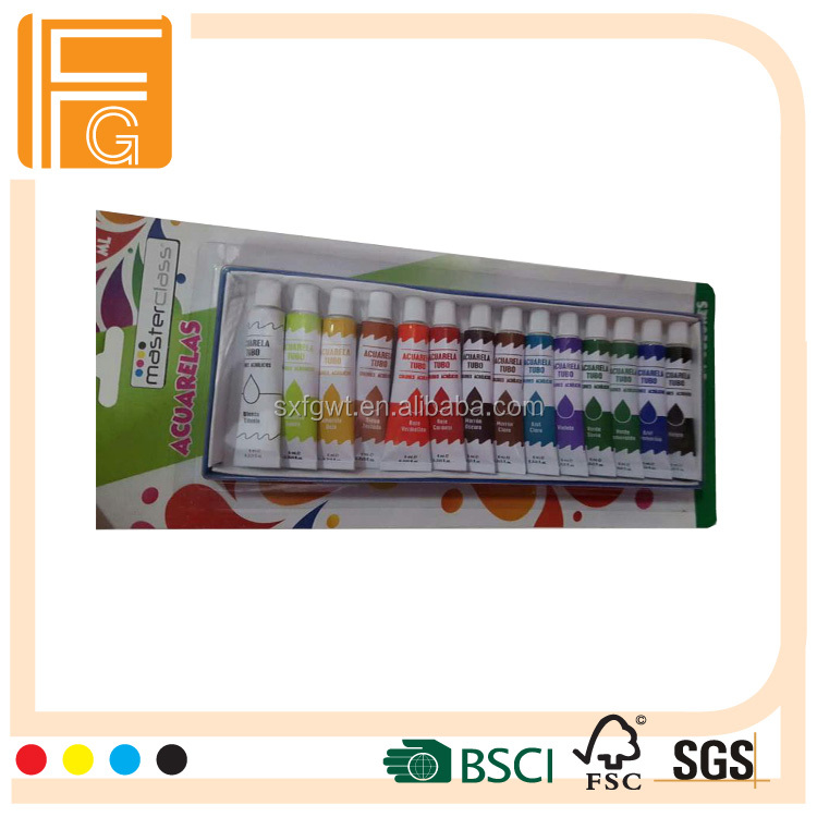 14color 6ml Aluminum Tube Packing acrylic Paint