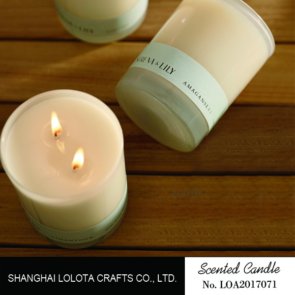 Luxury 2 wicks soy scented candle for decoration