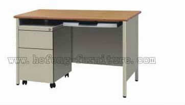 Steel Office Work Desk on Wheels