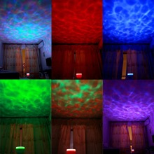 Gift of Romantic Aurora night light Master Projector Colorful LED Relaxing Ocean Wave Projector Pot with Speaker