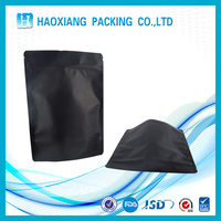 Zipper Top plastic bag food packaging / 3 side seal zipper bag / stand up pouch