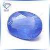 frosted blue oval raw glass gemstones for sale