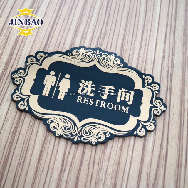 JINBAO Man and women bathroom Acrylic indoor LED toliet sign