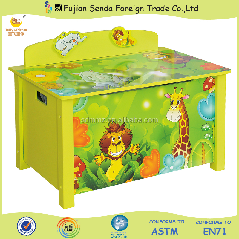 HOT SALE Wood Kid Toy Box Big Toy Cabinet