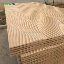 Interior Wall Paneling Decorative Embossed Carved MDF 3D Wall Panel