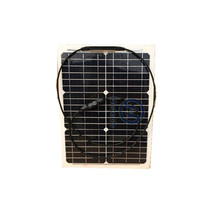 2017 beautiful design lowest price 20w flexible solar panel with Junction box and Cable price
