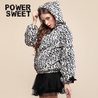 European fashion style leopard pattern 2014 winter coats and jackets for women