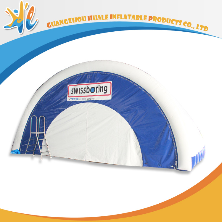 Cheap Semicircle Big Inflatable Warehouse Tent For Sale