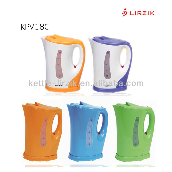 Factory Wholesale Plastic rapid boil electric water kettle / electrical home applaince / 1.8L cordless electric kettle KPV18C