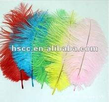 Wholesale colored party decorative artificial Ostrich Feather as Stage performance accessory and decoration