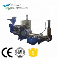Plastic film / HDPE PP bottle flakes recycling granulator line