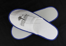 Hotel Slippers Luxury Terry Cloth,Disposable Anti-slip Dots Sole White Slipper