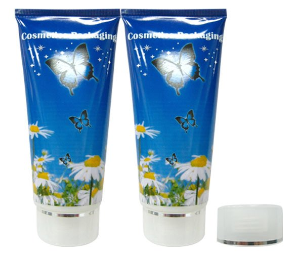 200ml Eco friendly cosmetic flexible tube packaging for body lotion