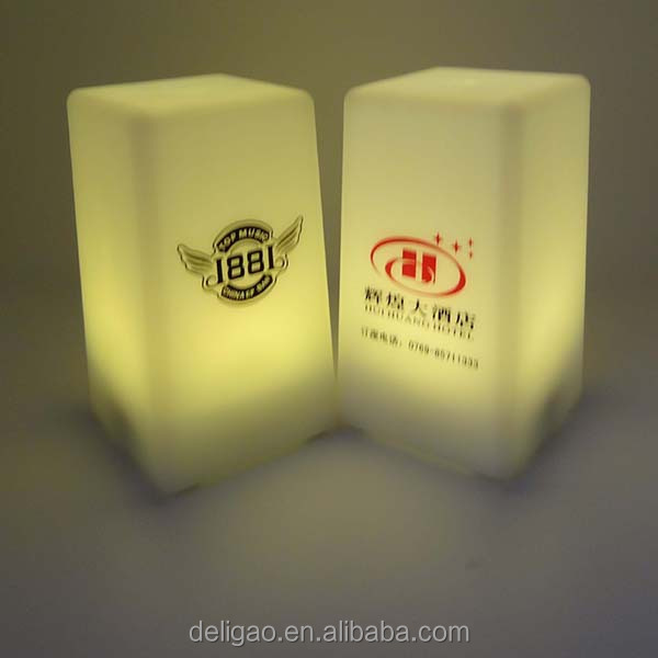 Different color screen printing logo lamp led bar counter lamp, rechargebale led table light