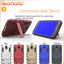 Hybrid 2 in 1 kickstand phone case for samsung s5 mini