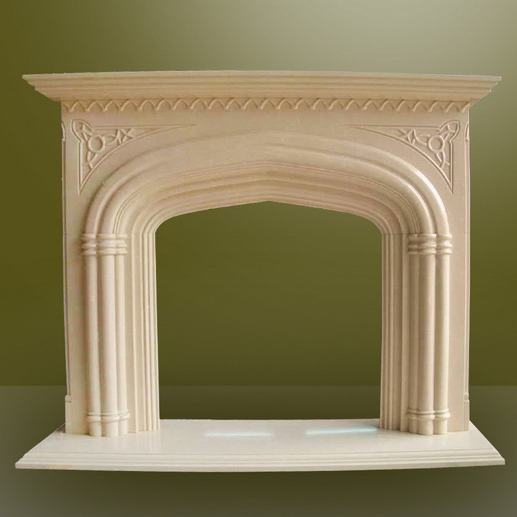 Gold supplier china eco-friendly italian regal white marble fireplaces