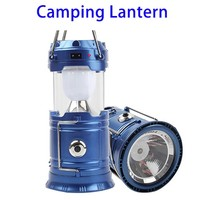 6 LED + 1W Telescopic Rechargeable Solar Camping Light Lantern