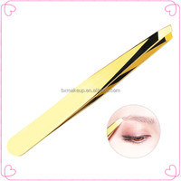 Eyelash tools gold-plated electric eyebrow extension tweezers