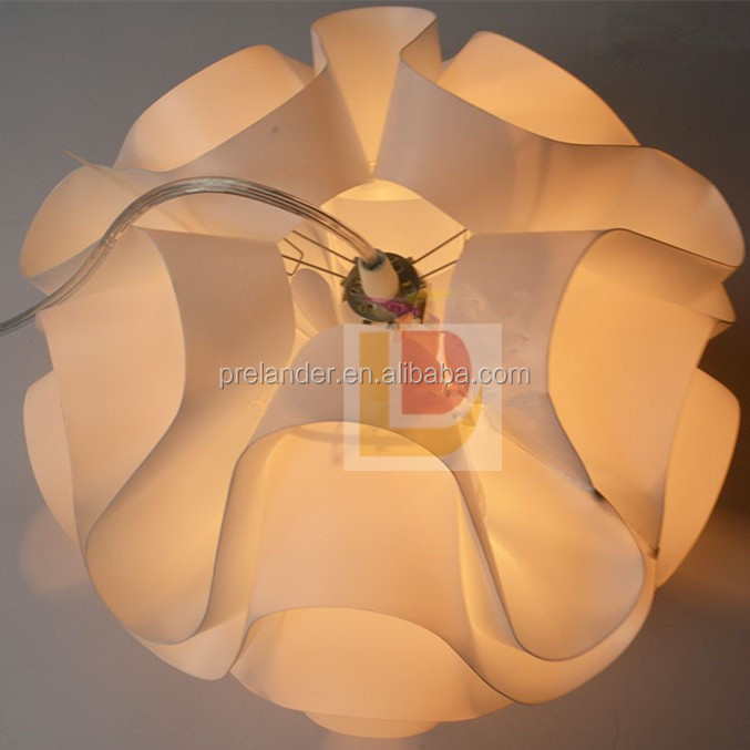 PP Lamp Shades Wave Shades Plastic Modern jigsaw light parts