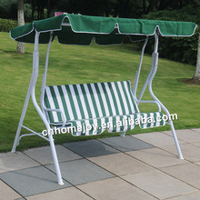 Garden swing chair with canopy, three seats swing chair, outdoor swing chair