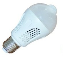 HUAWEILED HS-SGD-0505 5W/off High quality energy saving led bulb indoor infrared motion sensor smart bulb light