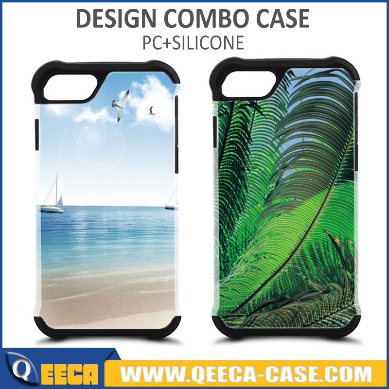 New design custom printed combo case for iphone 4, 4s, 5, 5s, 6, 7 phone cover