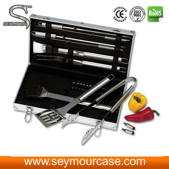 Hot aluminum BBQ tool set storage case
