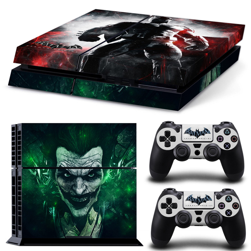 Cool Hulk Vinyl Decal PS4 Skin PS4 Sticker Wrap for Sony PlayStation 4 Console and 2 PCS Controller Protective Skin Stickers