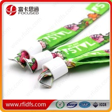 fabric/woven/nylon material for RFID wristband one off rfid wristband