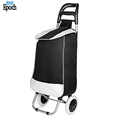 Hot selling black heavy duty wheeled shopping bag trolley,stylish collapsible rolling cart