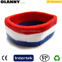 sport made in china 100% cotton embroidery logo sport headband