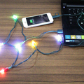 best selling mobile phone accessories micro USB cable with Christmas string LED light for Christmas promotion