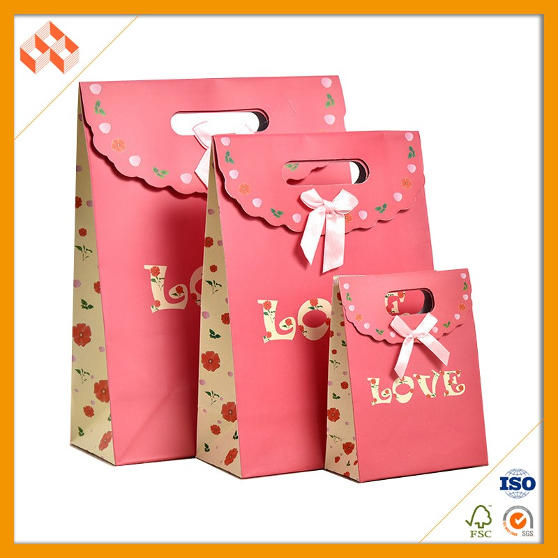 New design Paper Bag Door Gift With Bow Tie