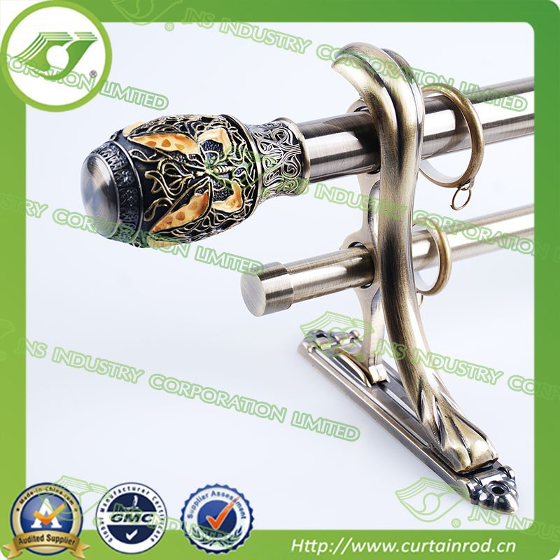 Brass Tension Curtain Rod Pole / Luxury Curtain Rods - Buy Curtain ...