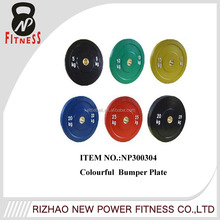 black and colorful weight lifting bumper rubber barbell weight plate