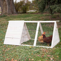 outdoor wooden pet rabbit cage
