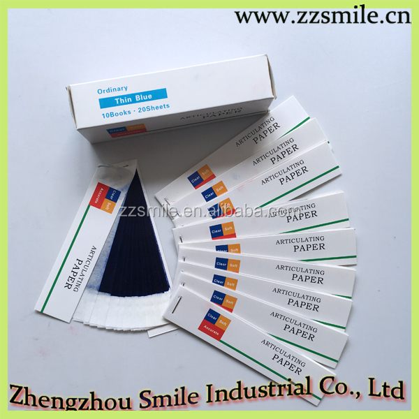 Blue and Red Color Dental Articulating Paper/Carbon Paper ( Straight type )