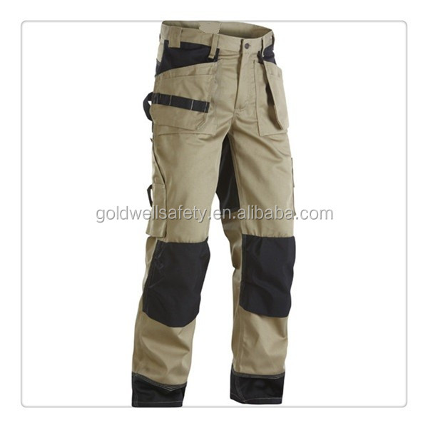 mens cheap match khaki cargo pants with a lot of pockets