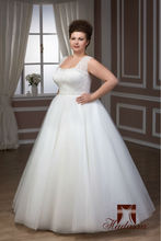 New collection Italy design fluffy Wedding Dress Plus size