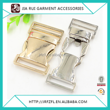 Gold and silver belt buckle backpack strap insert buckles for bag use