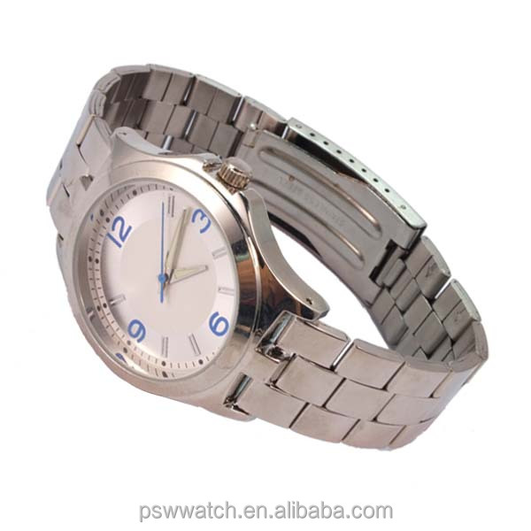 2013 fashion alloy watch without logo customized vogue watch stainless steel case back
